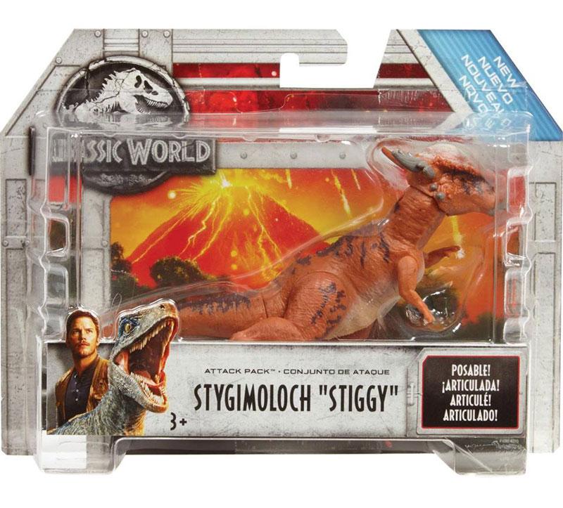 Stygimoloch Stiggy Tyrannosaurus Rex: Jurassic World Mini Action Figure Pack 1 Classic Sci-fi /& Horror Movies Trading Card Bundle FPN84 Triceratops